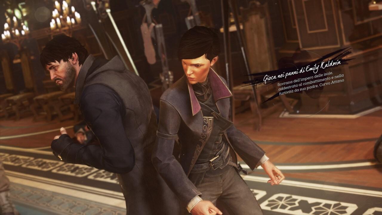 Recensione Dishonored 2 - Con chi affronterete l'avventura? Nei panni dell'esperto e letale Corvo Attano o in quelli della giovane ma feroce Emily Kaldwin?