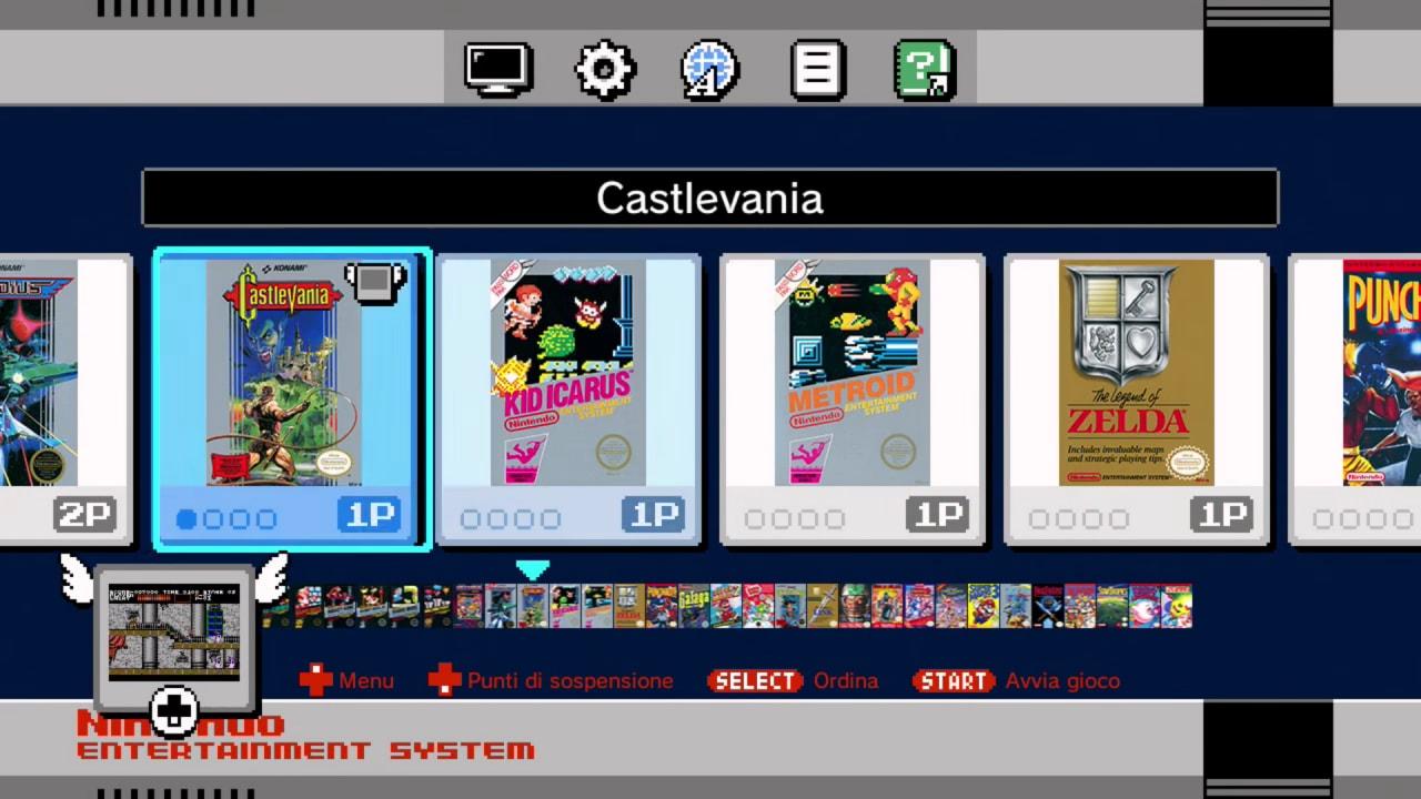 Recensione Nintendo Classic Mini NES - Ecco come si presenta l'interfaccia di selezione dei giochi.