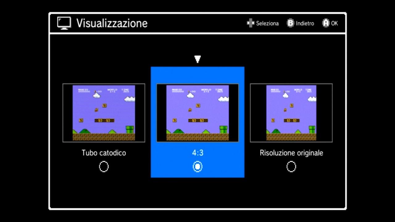 Recensione Nintendo Classic Mini NES - Modalità Visualizzazione