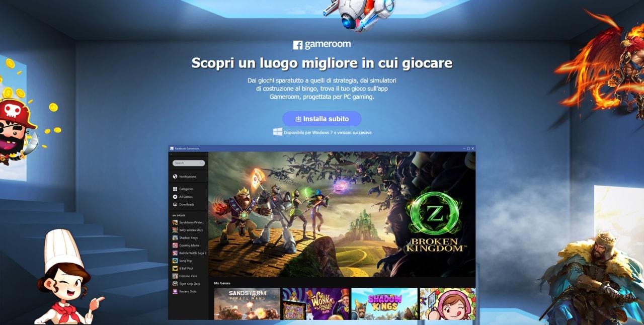 Facebook lancia la sfida a Steam con la piattaforma per giochi Gameroom (foto)