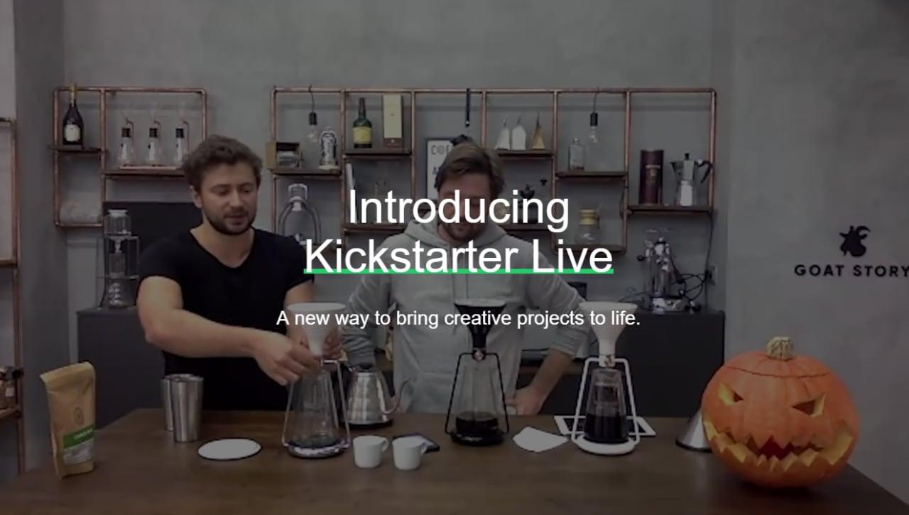 Parlate in diretta con i creatori dei progetti, grazie a Kickstarter Live