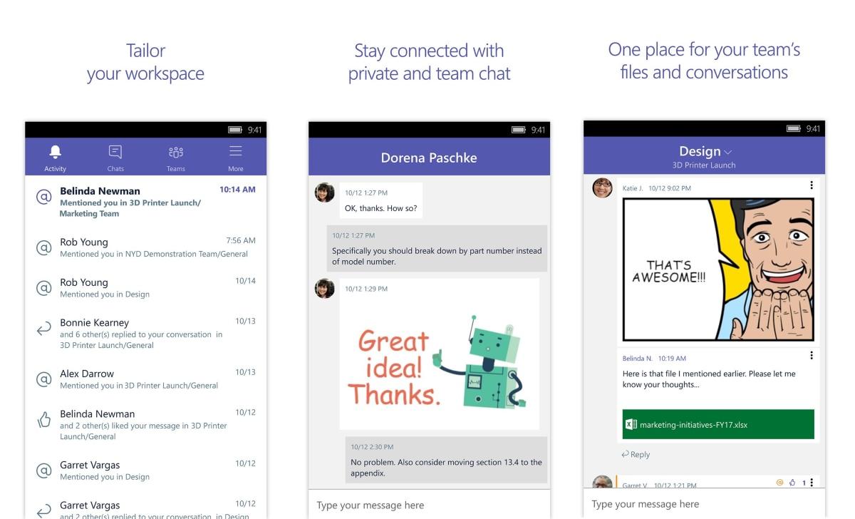 Microsoft Teams è la nuova piattaforma di comunicazione che sfida Slack (foto e video)