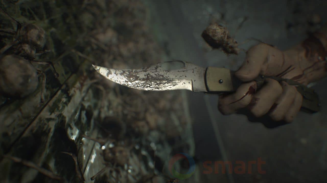 Anteprima Resident Evil 7 - Il coltello potrebbe salvarci in alcune occasioni, ma non è facile da usare nei combattimenti più concitati.