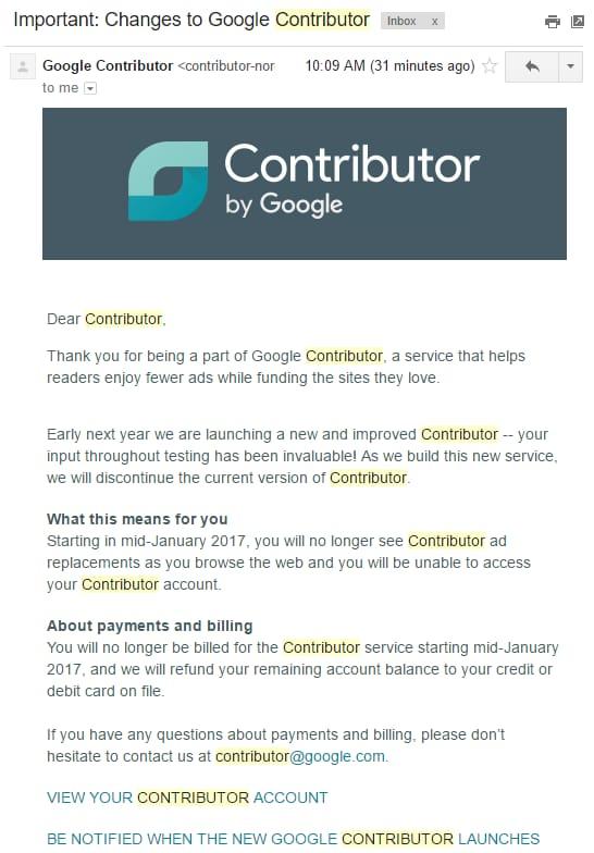google-contributor-chiude