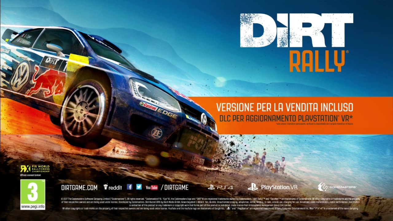 dirt rally abbraccia la realt virtuale ecco il primo trailer smartworld. Black Bedroom Furniture Sets. Home Design Ideas