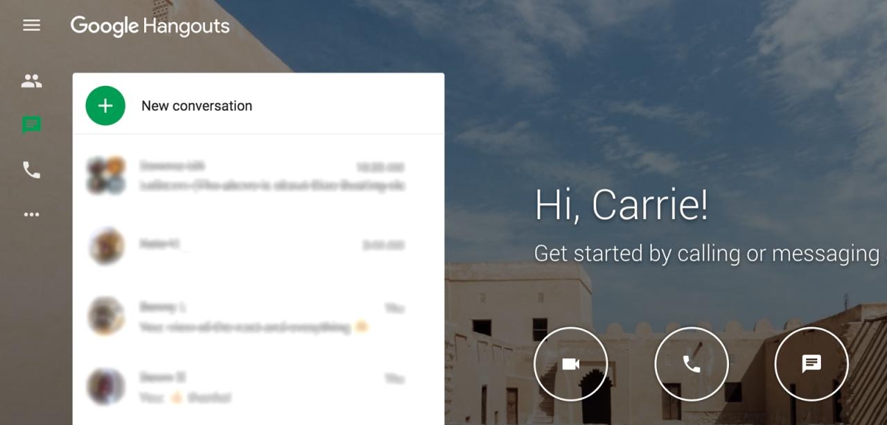 Hangouts aggiorna l'interfaccia web: nuovo pulsante per le chat di gruppo