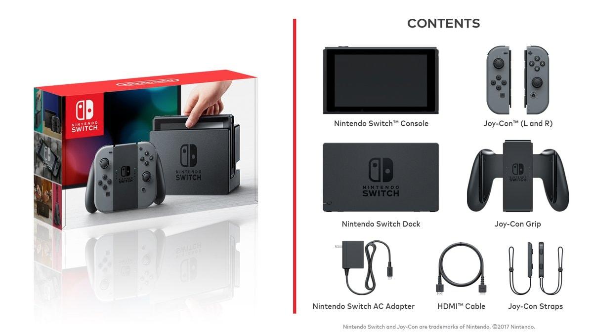 La ricca di confezione di Nintendo Switch. Eppure manca qualcosa...