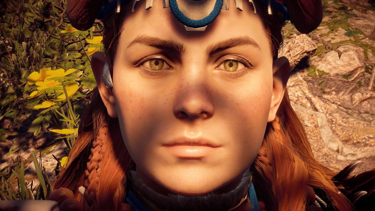 Recensione Horizon Zero Dawn - La creazione di Aloy ha richiesto la collaborazione di un gran numero di persone. Il volto deriva dal capturing di più persone.