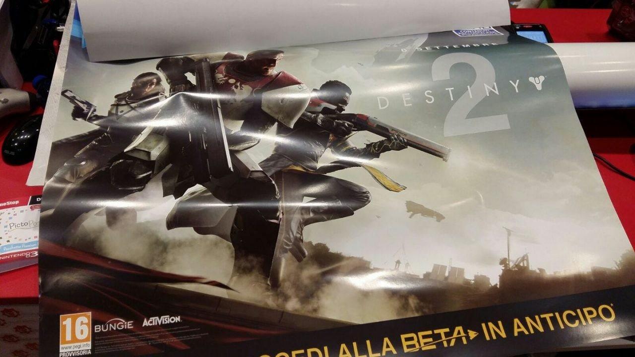 Destiny 2: un poster italiano di GameStop svela la data di uscita! (foto)