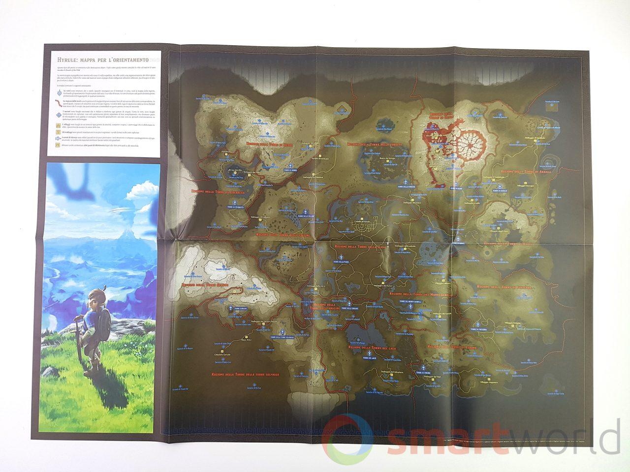 La mappa di gioco è davvero enorme, e avere a disposizione una copia cartacea potrebbe tornare davvero utile per pianificare gli spostamenti o per scovare qualche segreto extra.