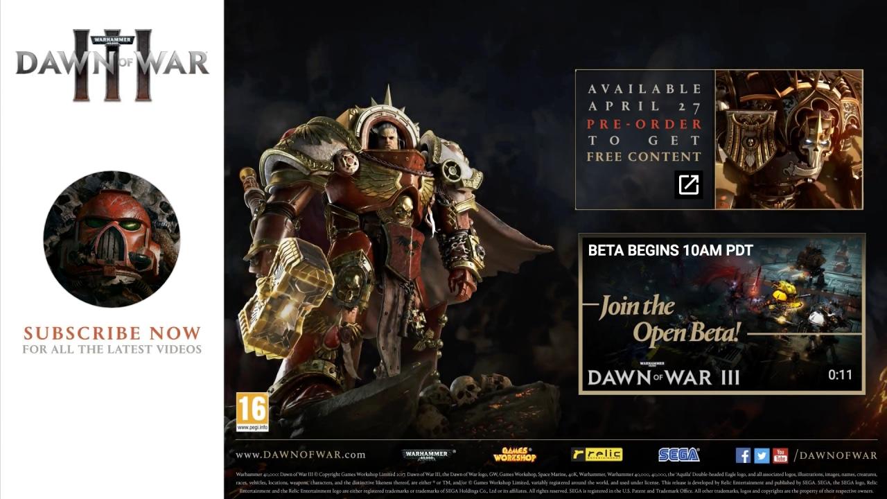 Dawn of War III si prepara al lancio: ecco il nuovo trailer Fragments of War