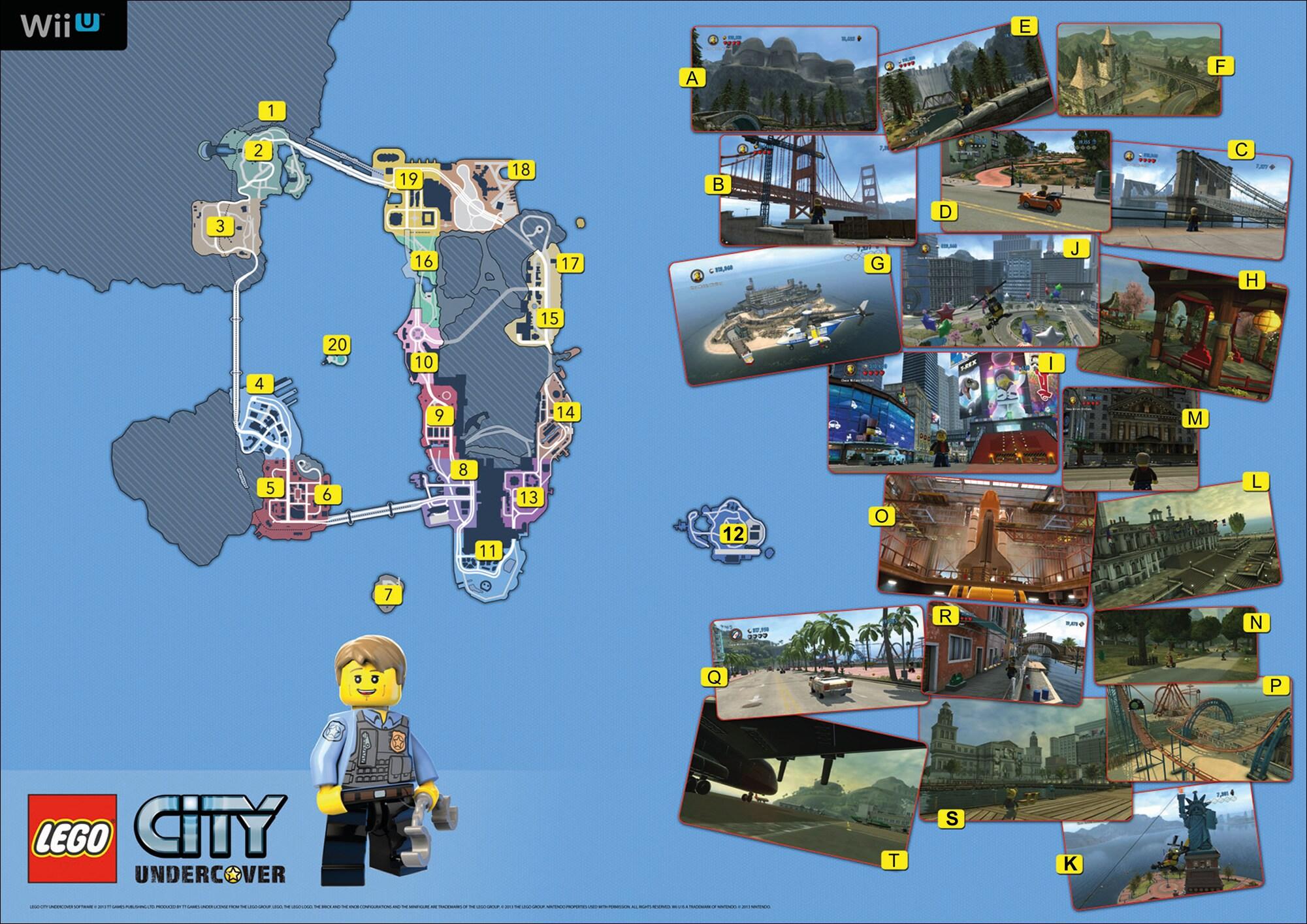 LEGO City Undercover Mappa