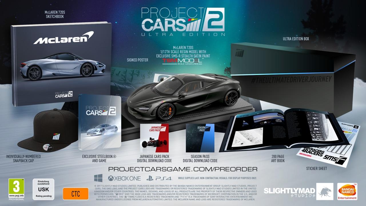 Project CARS 2: Bandai Namco svela la Limited, la Collector's e la Ultra Edition! (foto e video)
