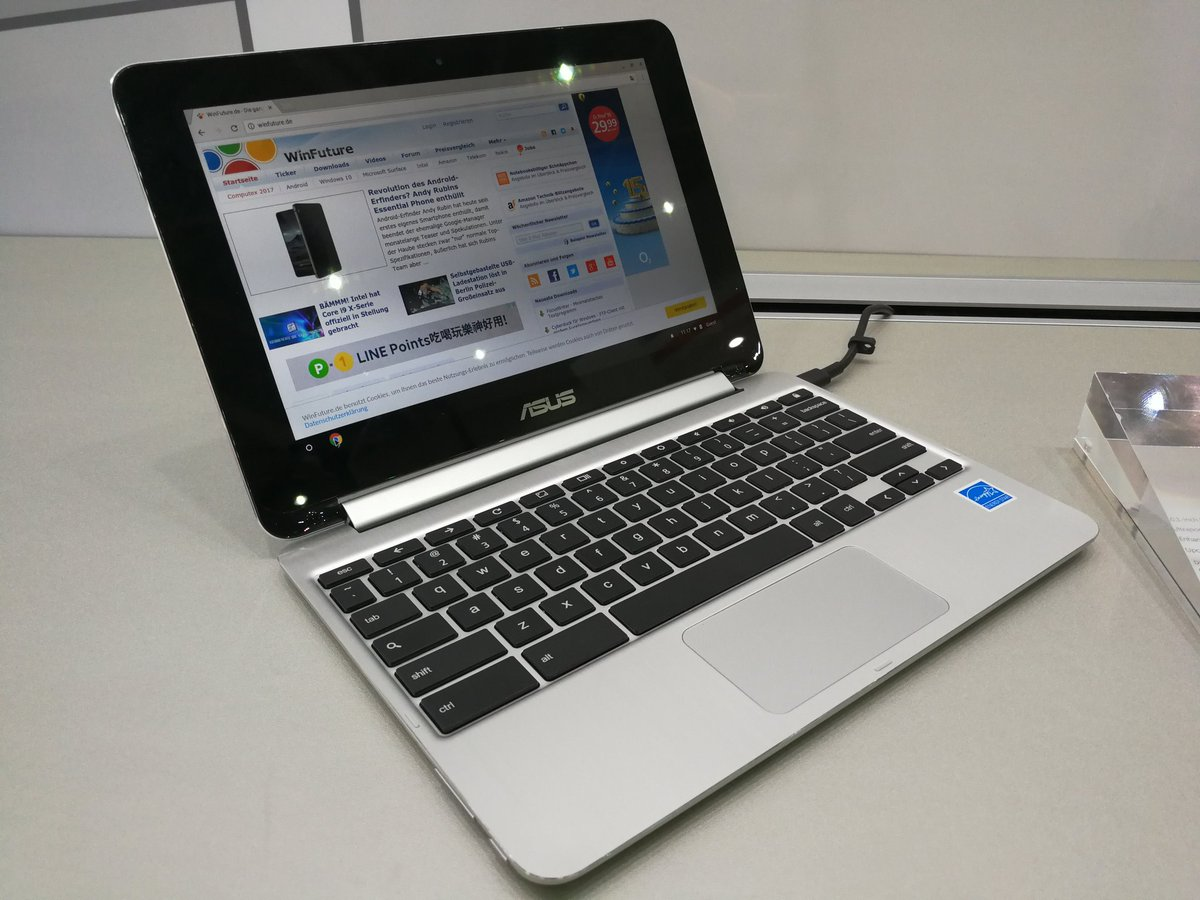 Asus Chromebook Flip C101 avvistato al Computex: un piccolo Chromebook pronto per il Play Store (foto e video)