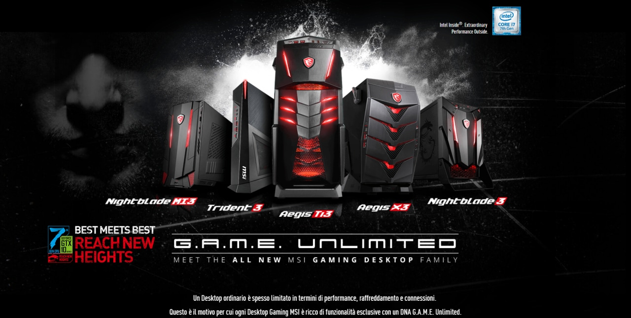 msi lancia un configuratore web di pc da gaming smartworld. Black Bedroom Furniture Sets. Home Design Ideas