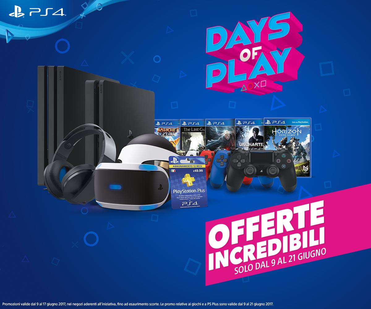 PlayStation celebra l'E3 2017 con i Days of Play: PS4 a 199€, Horizon Zero Dawn a 39€ e tante altre offerte