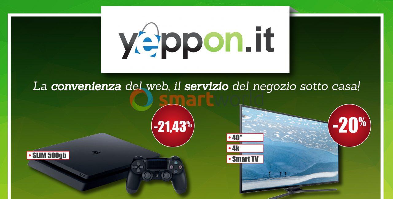 Yeppon lancia il suo primo volantino: dategli un'occhiata ci trovate PS4, TV e non solo (foto)