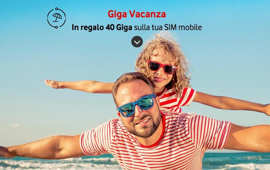 Vodafone giga vacanze vi regala 40 gb di traffico per 2 for Offerta telecom per clienti da piu di 10 anni