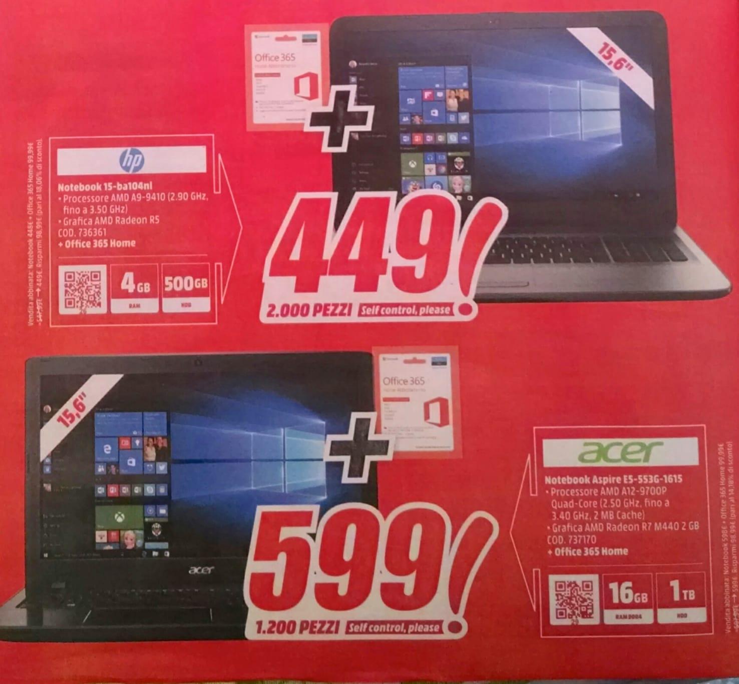 Volantino Mediaworld 6-16 luglio 2017 Laptop – 1