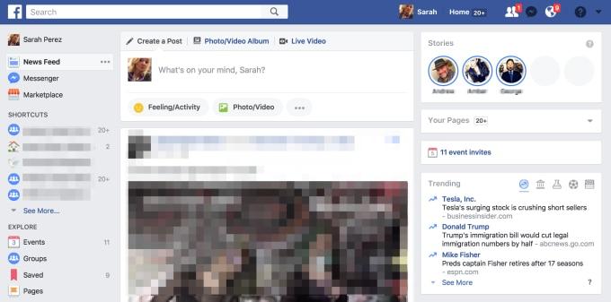 Le Storie di Facebook iniziano ad arrivare anche sulla versione desktop