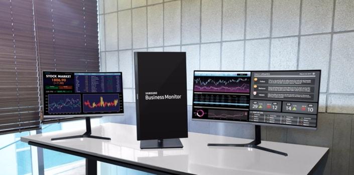 """Tre nuovi monitor pro da Samsung, anche un mostruoso 49"""" Ultra Wide QLED HDR (foto)"""