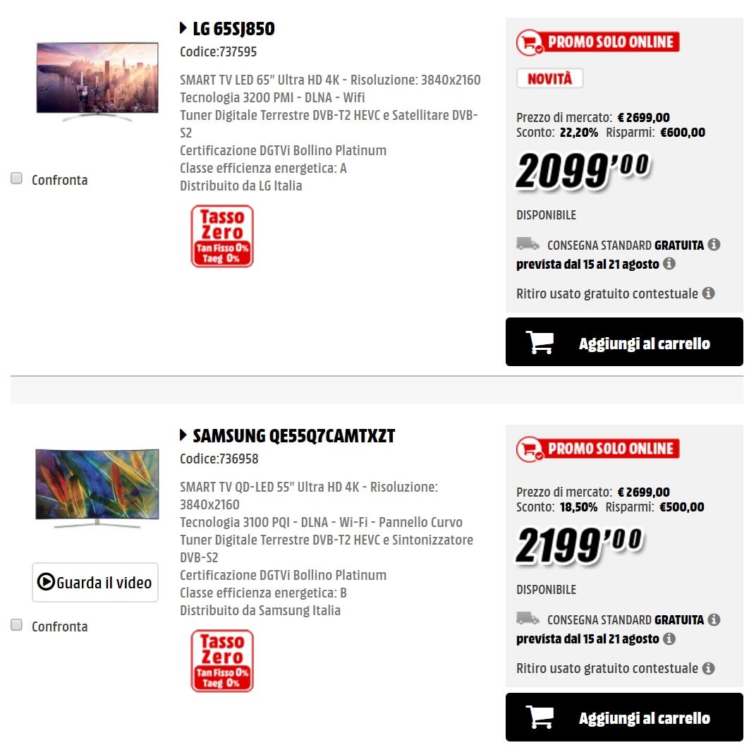 Trova prezzi smart tv samsung vinci construction france nice