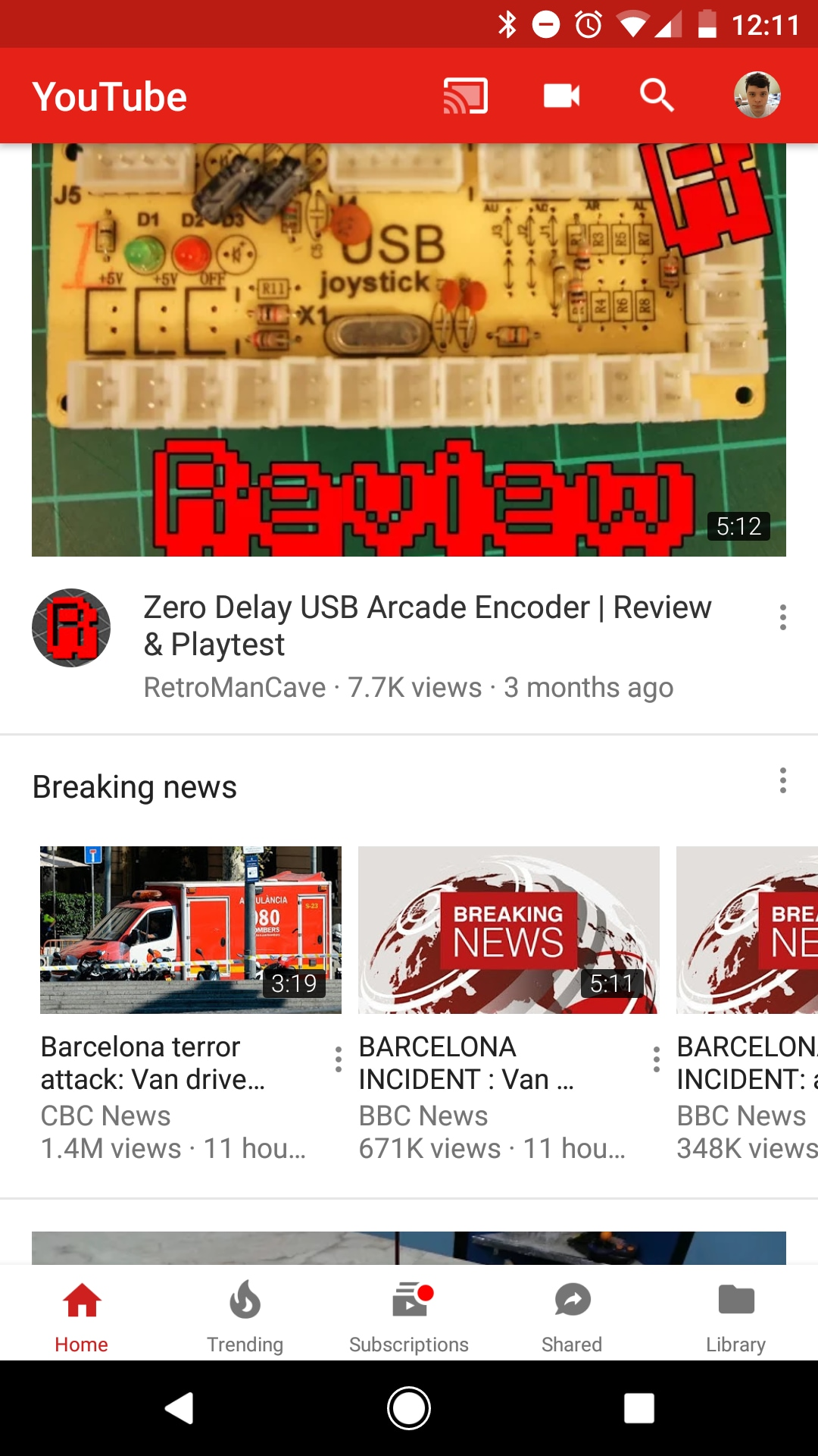youtube-sezione-breaking-news-android