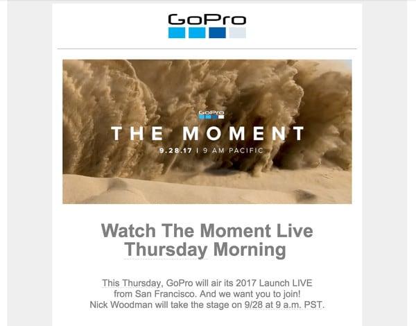 La nuova GoPro Hero 6 Black arriverà probabilmente il 28 Settembre (foto)