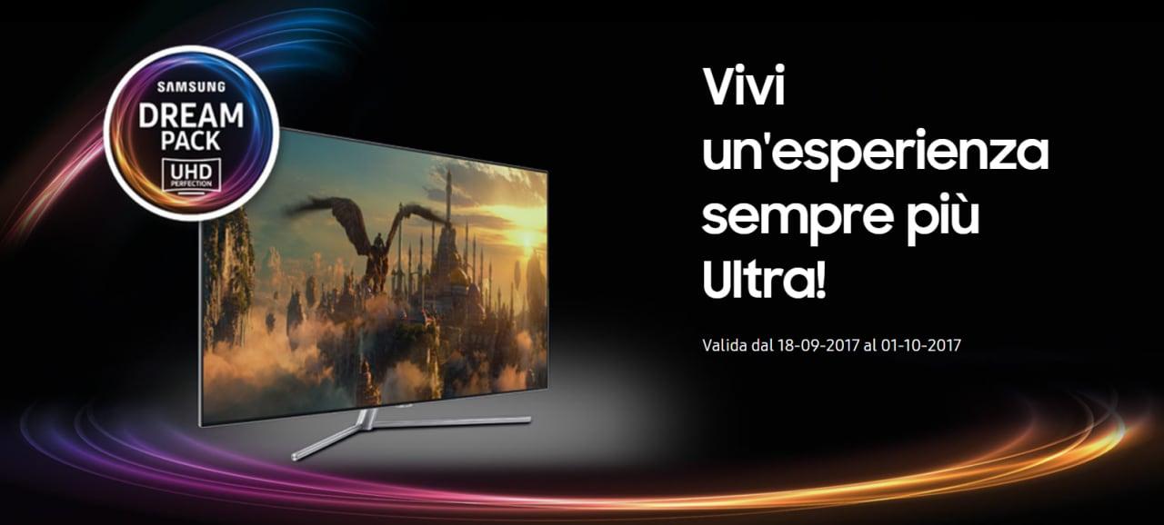 Acquistate una TV UHD abbinando un lettore Blu-ray e Samsung vi premia: fino a 500€ di rimborso