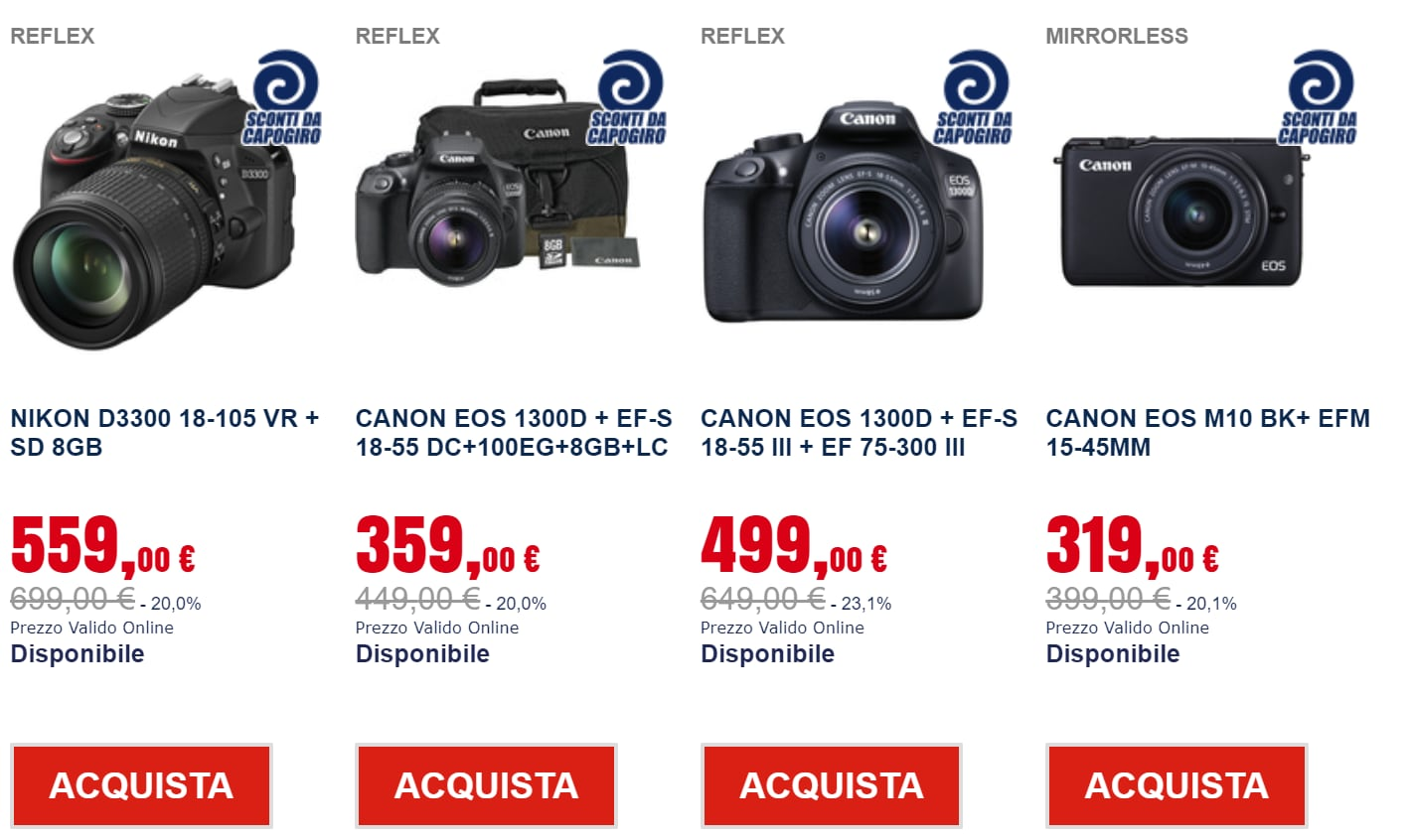 sconti online trony_fotocamere