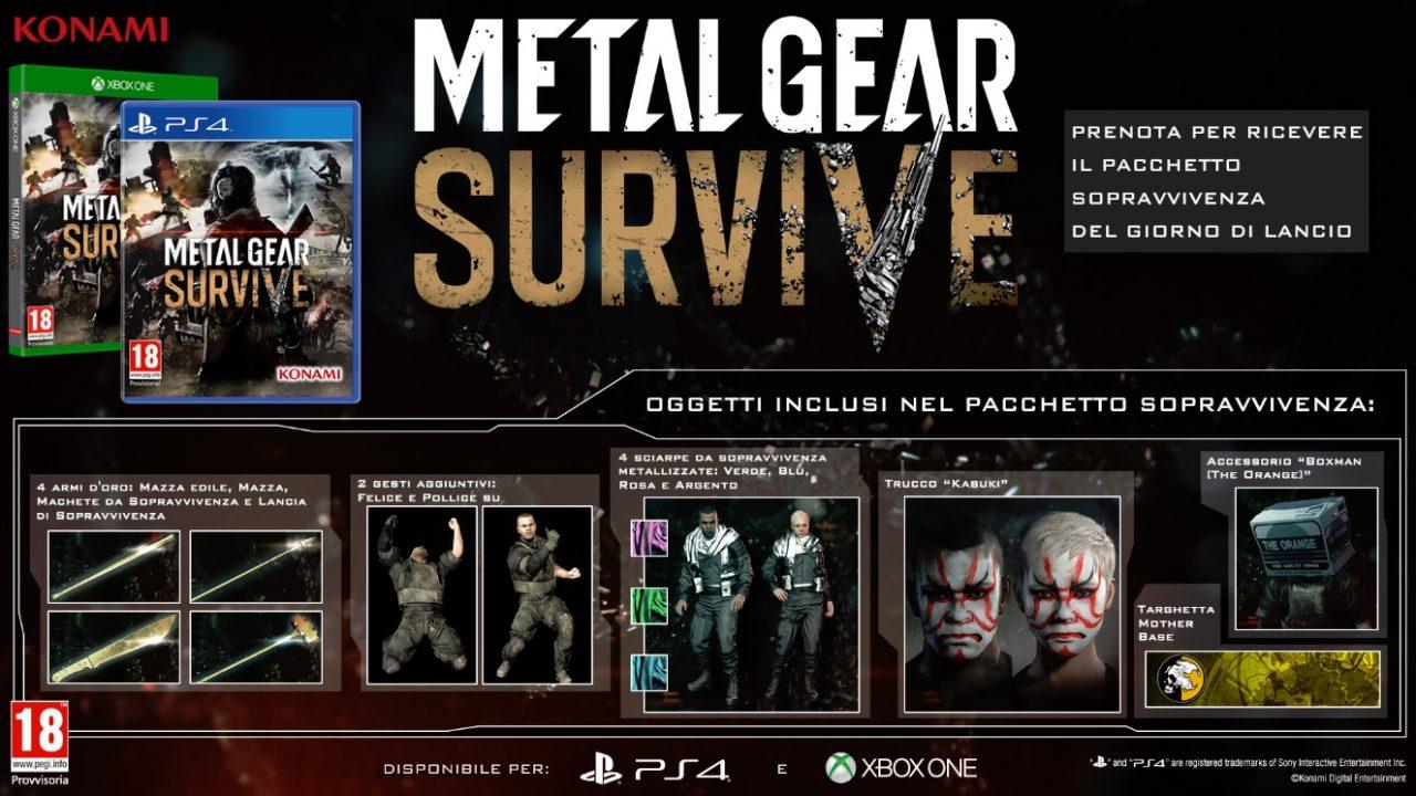 Metal Gear Survive: annunciati data di uscita, bonus pre-order e altre novità