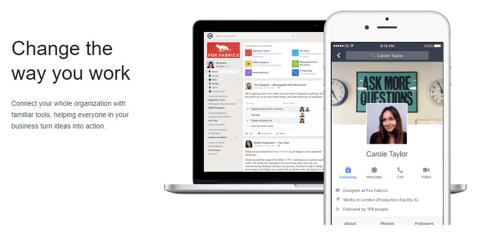 Facebook Workplace Chat per Windows e Mac esce dalla beta