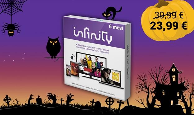 Infinity Gift: solo fino al 1 novembre 6 mesi di streaming in sconto del 40% a 23,99€
