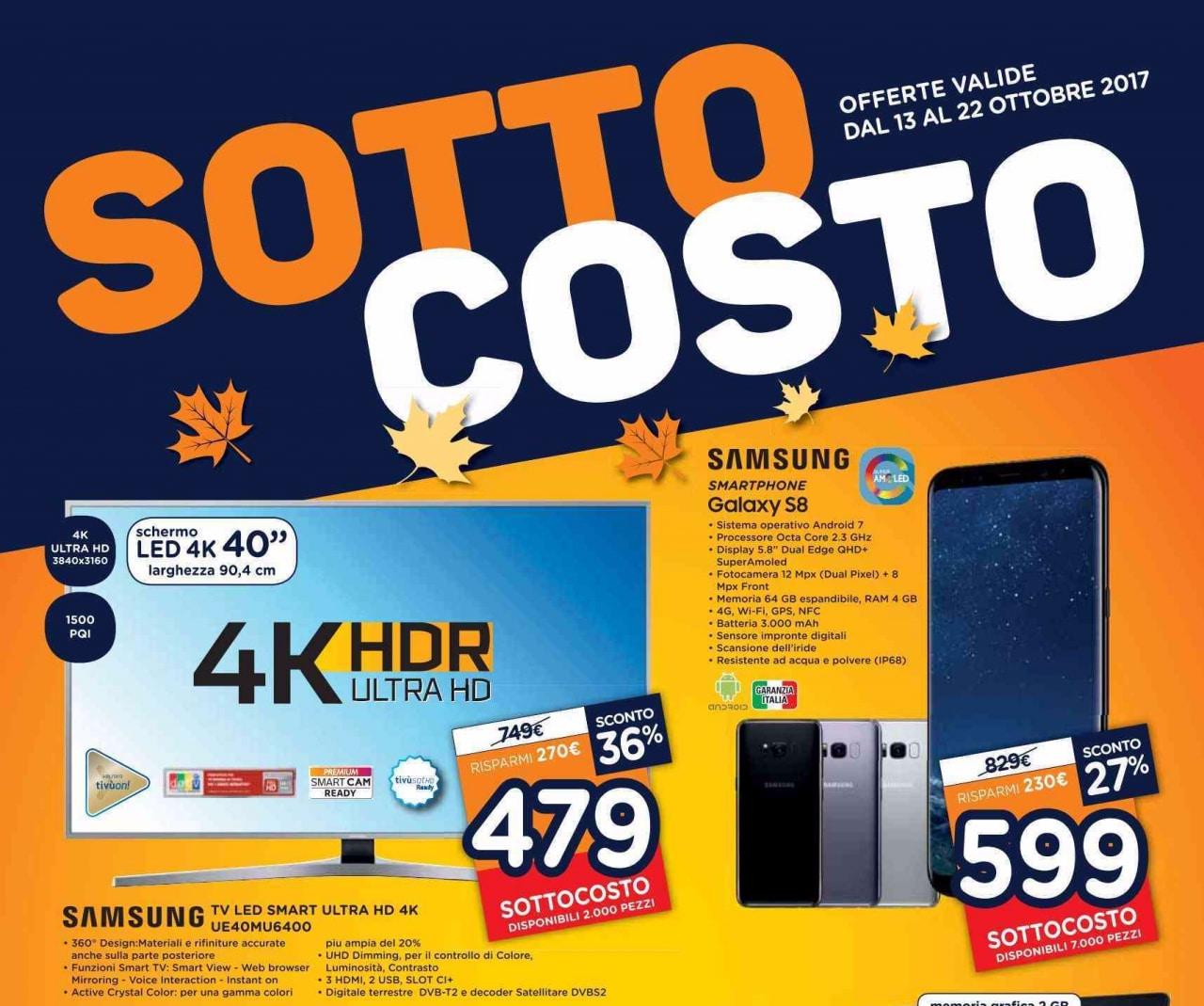 Volantino Unieuro Sottocosto 13-22 ottobre 2017: prezzi ...