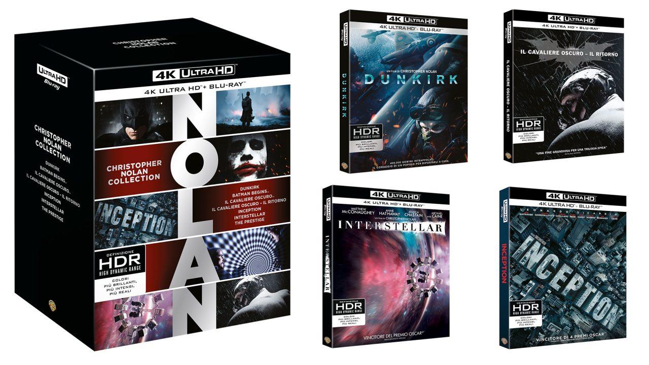 Fan di Christopher Nolan? A Natale arriva il super-cofanetto in 4K Ultra HD con ben 7 film!
