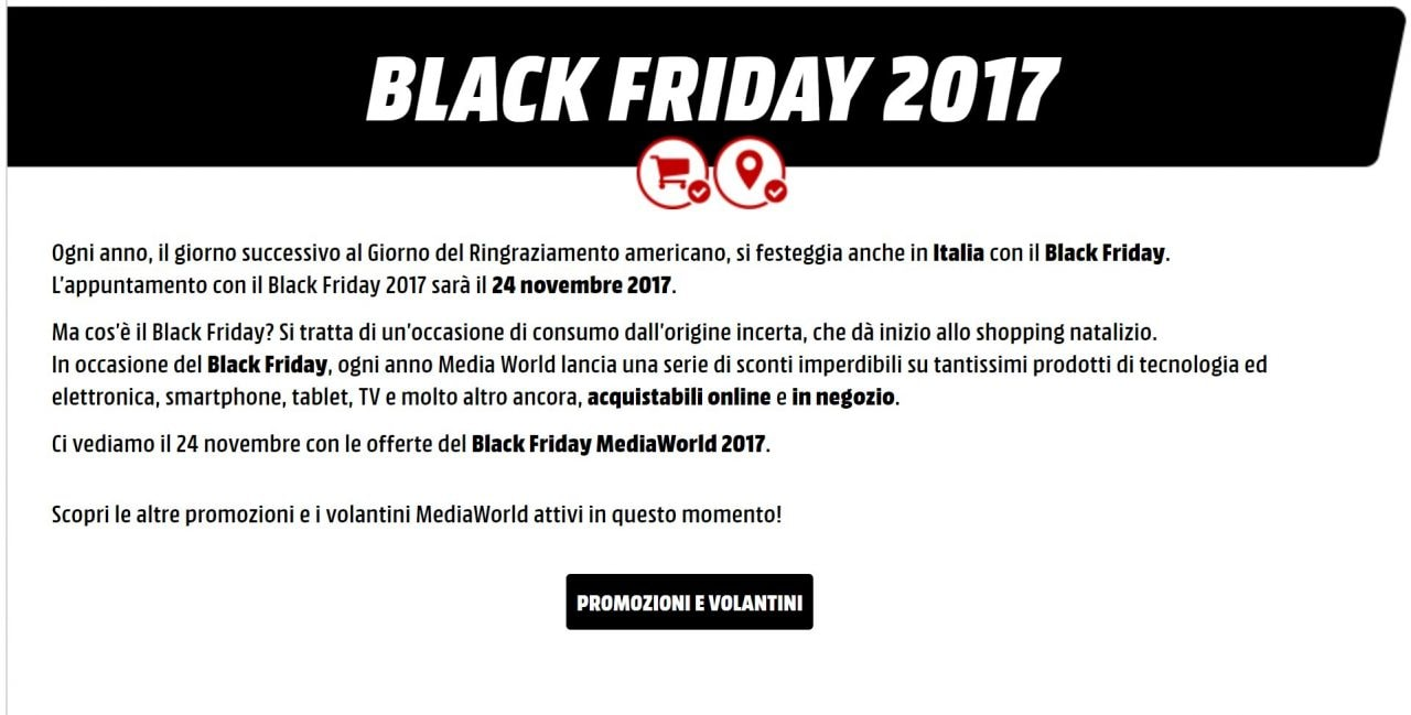 Black Friday MediaWorld 2017 | SmartWorld