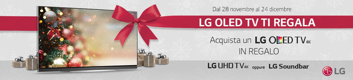 Al vostro natale ci pensano eprice e lg tv 4k o soundbar for Regalo mobile tv