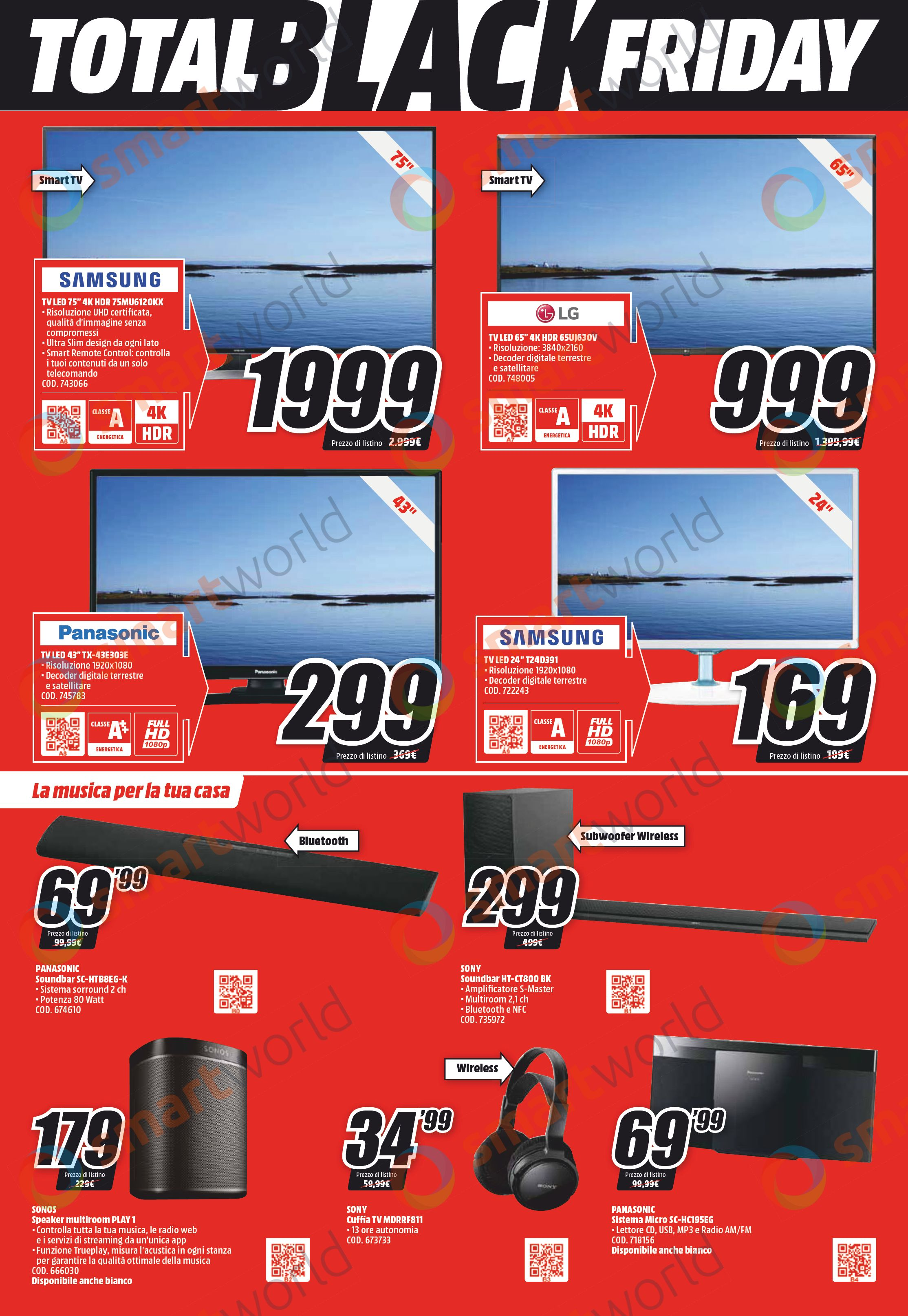 Volantino MediaWorld Total Black Friday: 20 pagine di