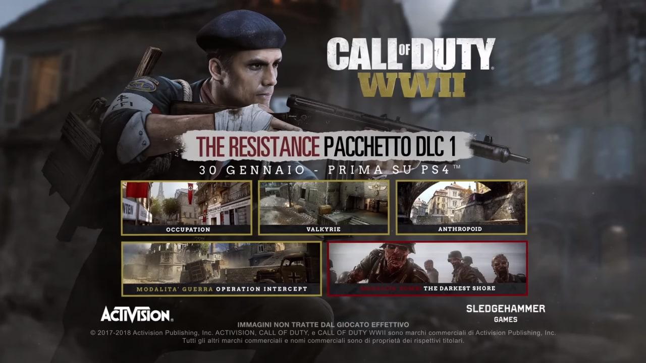 The Resistance è il primo DLC per Call of Duty: WWII, arriva il 30 gennaio