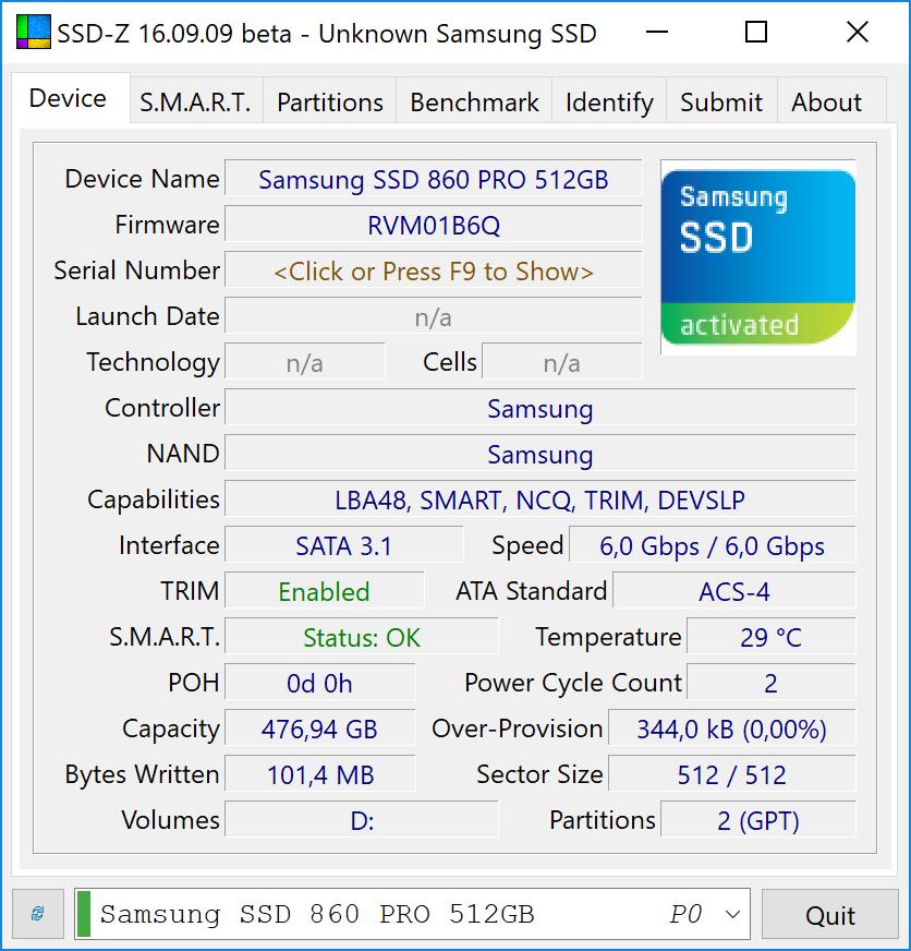 Samsung 860 Pro Infos
