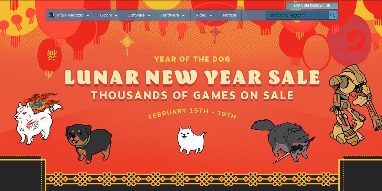 Steam festeggia l'Anno del Cane: tanti sconti anche su titoli recenti fino al 19 febbraio