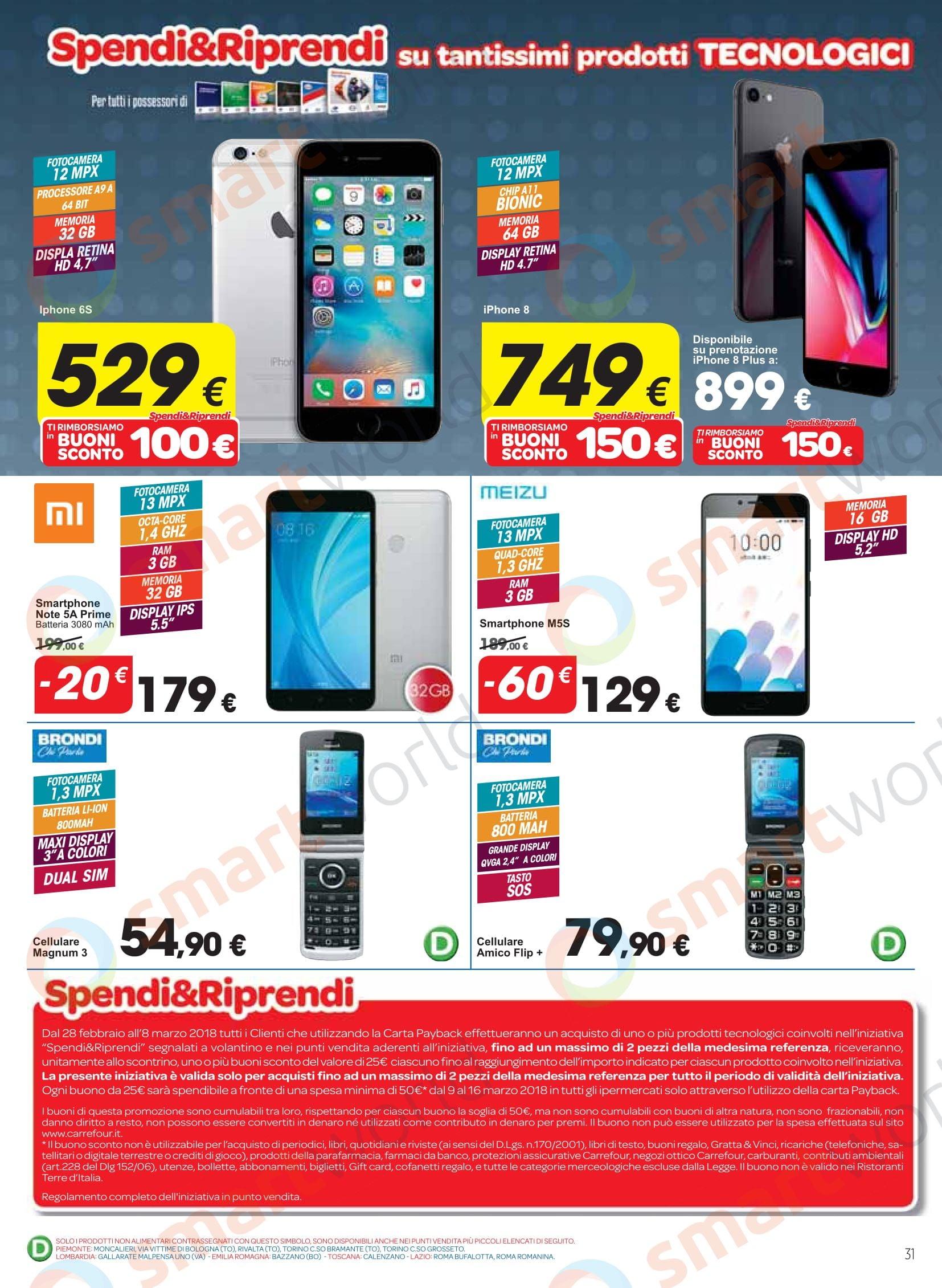 Volantino Carrefour 28 febbraio - 8 marzo: iPhone X, Galaxy