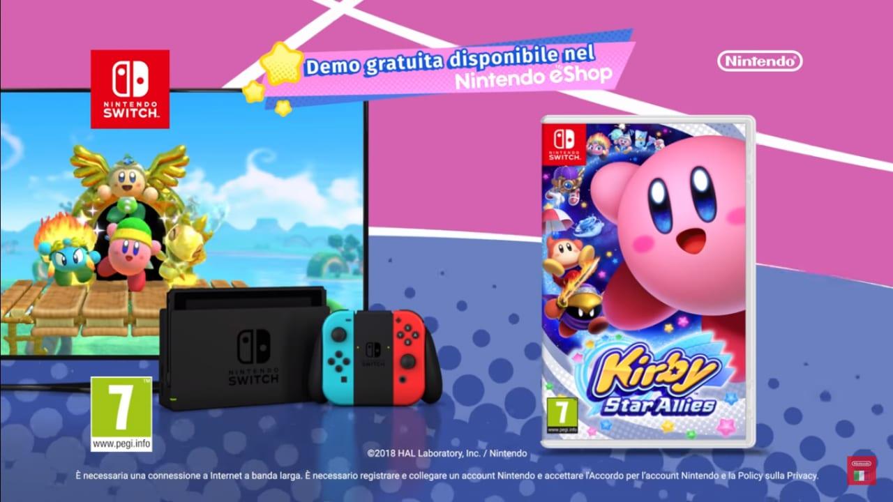 Una demo per Kirby Star Allies? Sì, ed è già disponibile! (video)