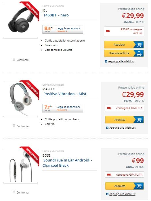 euronics no iva online 9 marzo 2018 cuffie (1)