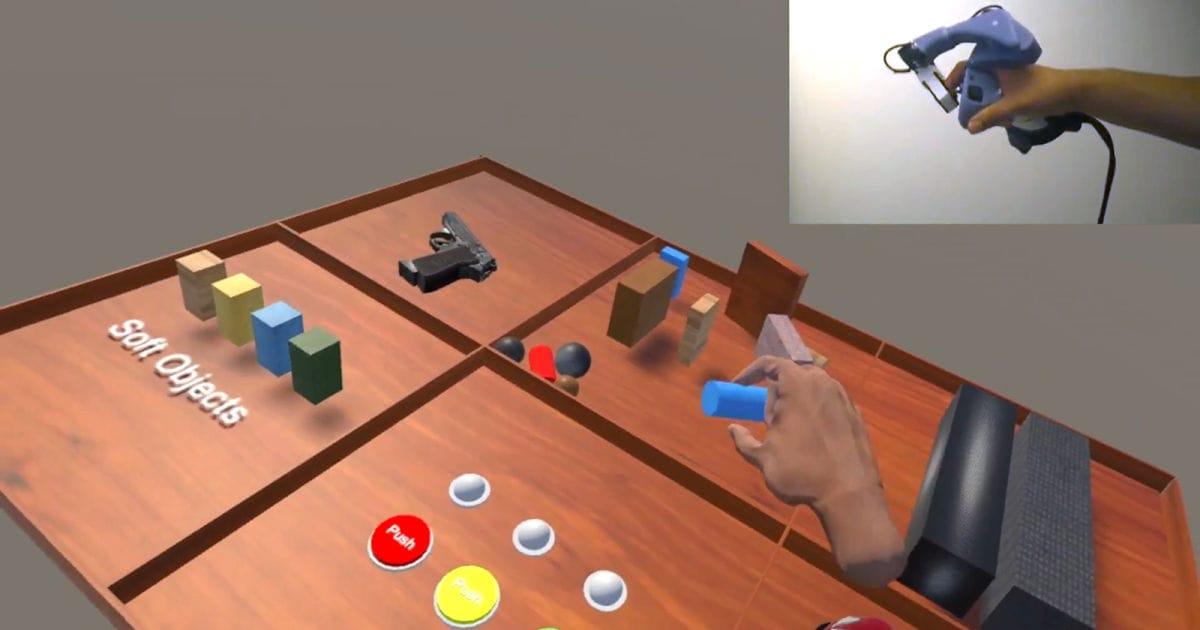 Microsoft ha inventato tre bizzarri strumenti per realtà aumentata tattile (video)