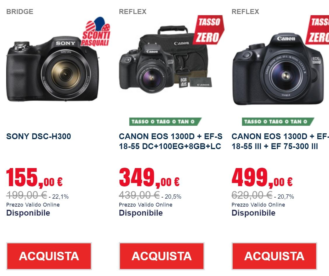 trony sconti pasqua 2018 fotocamere (1)