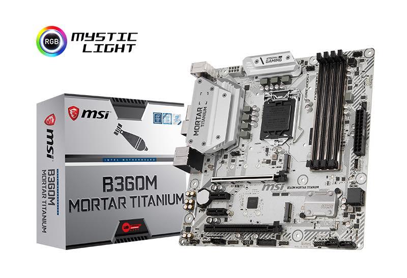 I chipset Intel H370, B360 e H310 arrivano anche sulle nuove schede madri di MSI (foto)