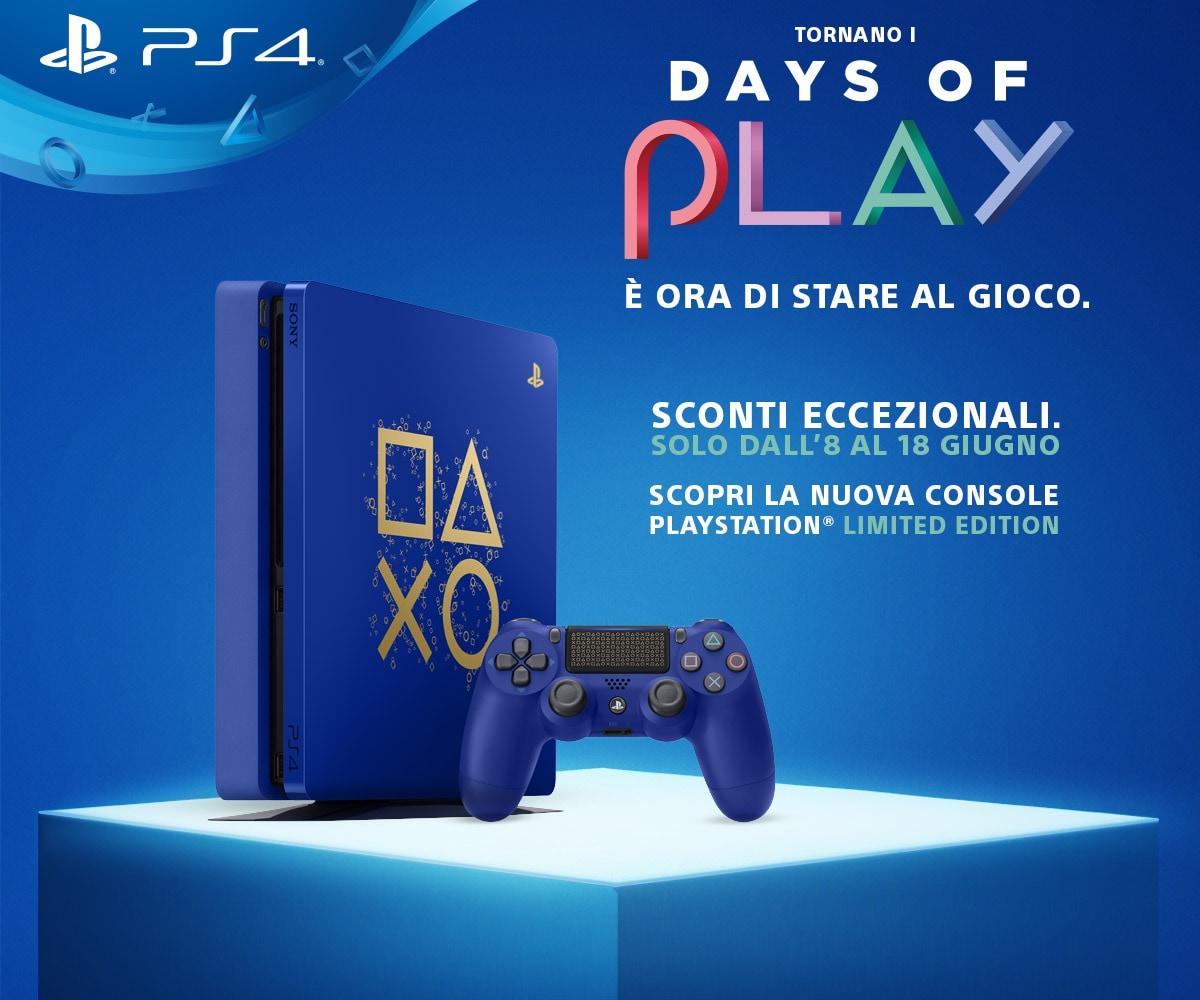 PlayStation 4 Days of Play: tanti sconti su giochi e hardware, e c'è una nuova PS4 in edizione limitata!