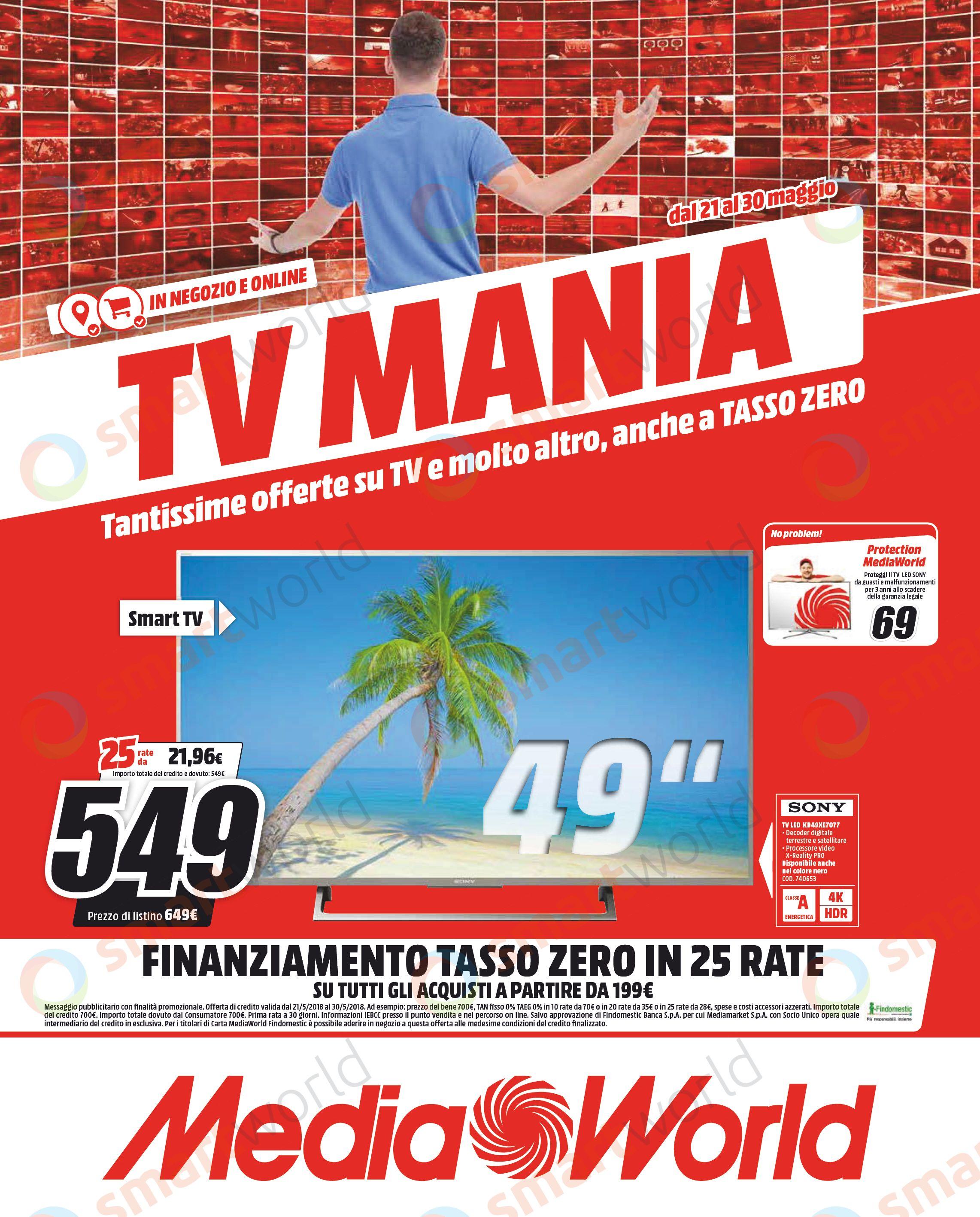 Volantino MediaWorld TV Mania maggio 2018 (1)_smartworld