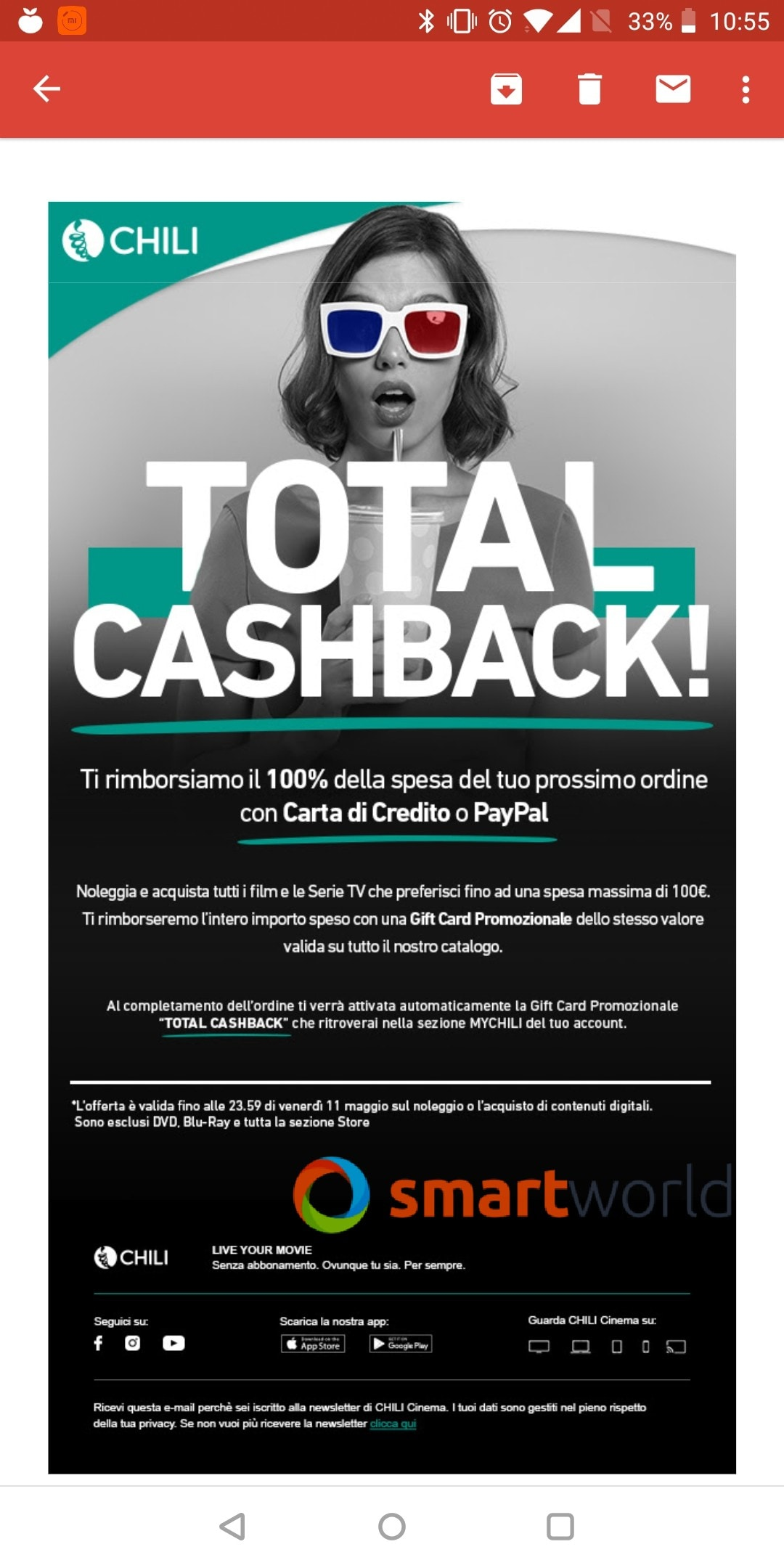 chili cinema total cashback